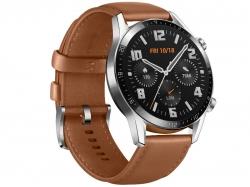 Huawei Watch GT 2 Classic okosóra, barna bőrszíj