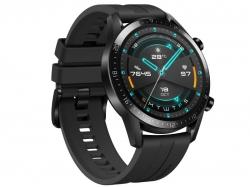 Huawei Watch GT 2 Sport okosóra, fekete szilikonszíj