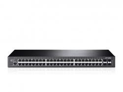 Tp-Link T2600G-52TS JetStream 48 portos gigabites L2 vezérelhető switch 4 db SFP lehetőséggel