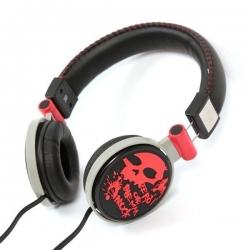 Omega FH0033R Freestyle piros-fekete fejhallgató