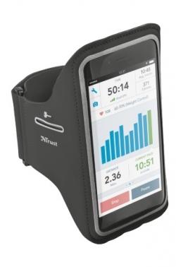 Trust Bracus Sports Arm Band fekete iPhone 6/6S sport tok (20885)