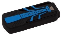 KINGSTON DataTravel 30G2 16GB USB3.0 Fekete-Kék Pendrive (DTR30G2/16GB)