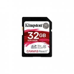 KINGSTON MEMÓRIAKÁRTYA SDHC 32GB CL10 UHS-I U3 V30 A1 CANVAS REACT (100/70)