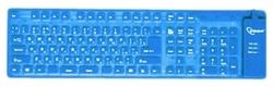 Gembird KB-109FEL1-BL-US USB + PS/2 angol szilikon billentyűzet