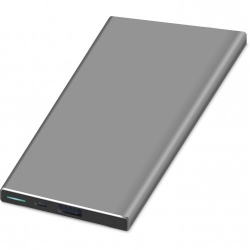 KIT POWER BANK PLATINUM 5000 MAH SZÜRKE (KWPWRALU5SG)
