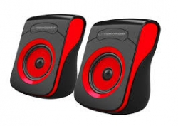 ESPERANZA FLAMENCO USB STEREO SPEAKERS 2.0 BLACK/RED (EP140KR)