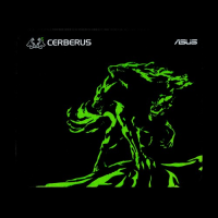 ASUS Cerberus MAT MINI GREEN Gamer Egérpad