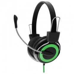 ESPERANZA FALCON mikrofonos fekete-zöld fejhallgató (EH152G)