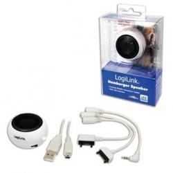 Logilink Hordozható MP3 hangszóró, fehér (SP0011A)