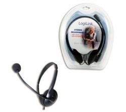 LogiLink Sztereó fejhallgató hangerő szabályozóval, mikrofonnal (HS0001)