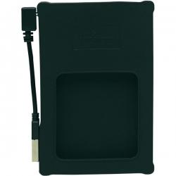 Manhattan Külső ház 2.5'' - USB 2.0, SATA, Fekete, Szilikon