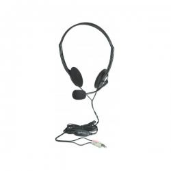 Manhattan Fejhallgató - Mikrofonnal, hangerőszabályzó, fekete