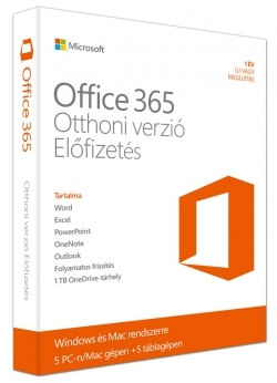 Microsoft Office 365 Otthoni verzió (6GQ-00162)