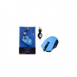 BH591 Vezetékes egér csévélő funkcióval - kék