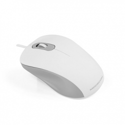 Modecom MC-M10S Silent Opical, USB - Fehér/Szürke (M-MC-M10S-200)