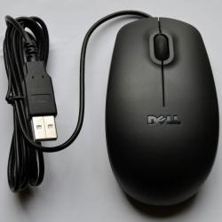 Dell MS111  USB optikai fekete egér (MOUSEOPTSCR)