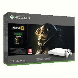 Microsoft Xbox One X 1TB Fehér +  FALLOUT76 Játékkonzol (FMP-00057)
