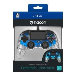 Playstation 4 Nacon vezetékes kontroller halványkék