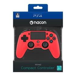 Playstation 4 Nacon vezetékes kontroller piros