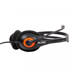 ACME HM01 fekete-narancs mikrofonos fejhallgató (ACFHHM01)