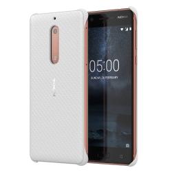 Nokia 5 műanyag hátlap karbon mintás Fehér