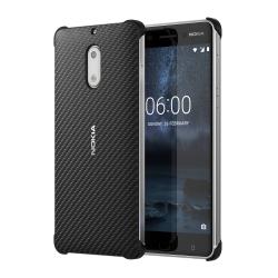 Nokia 6 műanyag hátlap karbon mintás Onyx Fekete