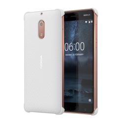 Nokia 6 műanyag hátlap karbon mintás Fehér