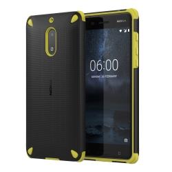 Nokia 6 ütésálló műanyag hátlap Fekete/Citrom