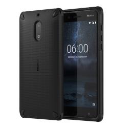 Nokia 6 ütésálló műanyag hátlap  Fekete/Fekete