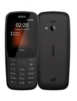 Nokia 220 4G Dual Sim Fekete (16QUEB01A02)
