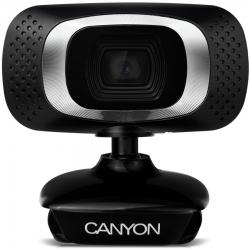 Canyon CNE-CWC3 USB mikrofonos fekete-ezüst webkamera
