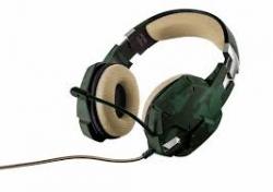 Trust GXT 322C zöld mintás mikrofonos gamer fejhallgató (20865)