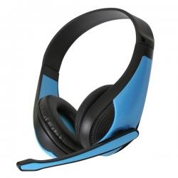 OMEGA Freestyle Kék fejhallgató mikrofonnal (FH4008BL)