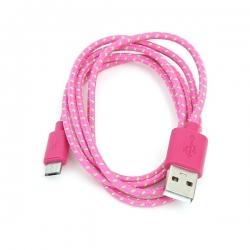 OMEGA Micro USB Kábel 1.0m Rózsaszín (OUFBFCP)