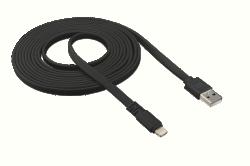 Trust 20480 3m fekete lightning hálózati kábel