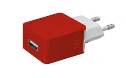 Trust Urban piros USB-s töltőfej (20143)