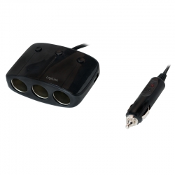 LogiLink Cigarette Outlet Adapter with 2 USB Ports (2,1A) (PA0108)