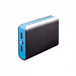 PLATINET Fekete/Kék hordozható töltő 6000mAh zseblámpával (PMPB6BBL)