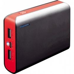 PLATINET Fekete/Piros hordozható töltő 6000mAh zseblámpával (PMPB6BR)