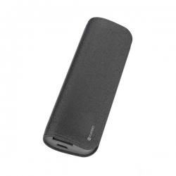PLATINET hordozható töltő 11000mAh fekete bőr borítással + micro USB Kábel (PMPB11LB)