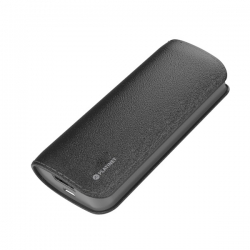 PLATINET hordozható töltő 5200mAh Fekete bőr borítással + micro USB Kábel (PMPB52LB)