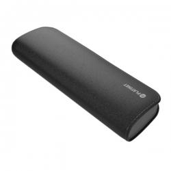 PLATINET hordozható töltő 7200mAh Fekete bőr borítással + micro USB Kábel (PMPB72LB)
