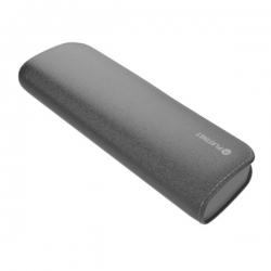 PLATINET hordozható töltő 7200mAh szürke bőr borítással + micro USB Kábel (PMPB72LG)