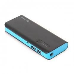 PLATINET hordozható töltő 8000mAh fekete-kék + micro USB Kábel (PMPB80BBL)