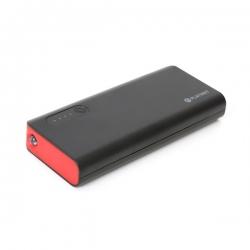 PLATINET hordozható töltő 8000mAh fekete-piros + micro USB Kábel (PMPB80BR)