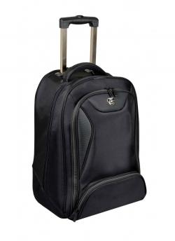 Port Manhattan notebook hátizsák és gurulós táska, 14''-15.6'' méret, fekete (170227)