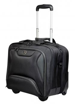Port Manhattan gurulós táska, 14''-15.6'' méret, fekete (170228)