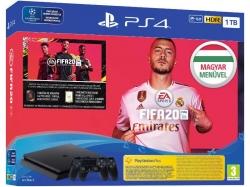 PlayStation 4 SLIM 1TB Konzol Fifa 20 2db DualShock 4 kontrollerrel (2806266)
