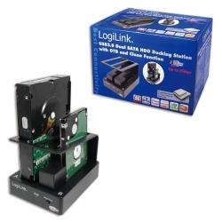LogiLink USB 3.0 dupla SATA HDD dokkoló állomás (QP0010)