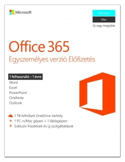 Microsoft Office 365 Egyszemélyes verzió (QQ2-00070)